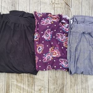 3 Women's Terra & Sky Plus Size Maxi Skirt With Si
